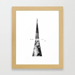 Kuro Noir tower Framed Art Print