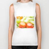vegetables Biker Tanks featuring vegetables by Marcel Derweduwen