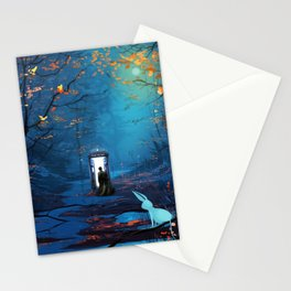 Tardis Lost In The Forest Stationery Cards