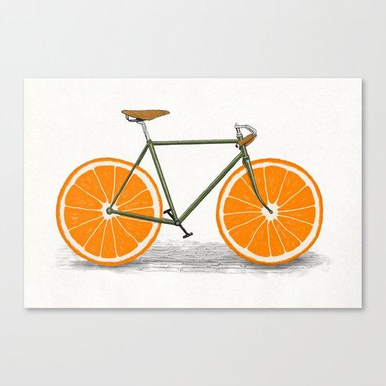 Zest (Orange Wheels) Canvas Print