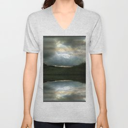 Every Cloud Has a Silver Lining Unisex V-Neck