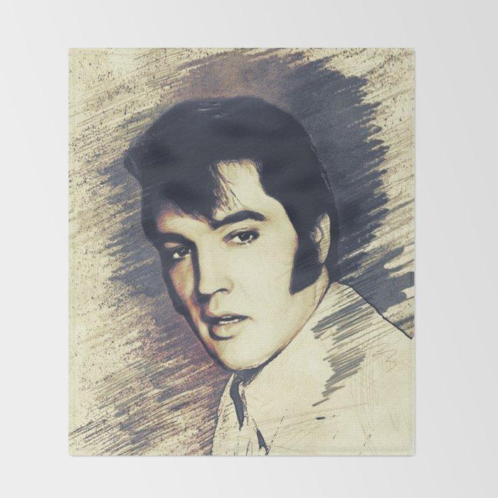 Elvis Presley, Music Legend Throw Blanket