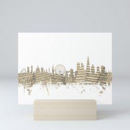 London England Skyline Sheet Music Cityscape Mini Art Print