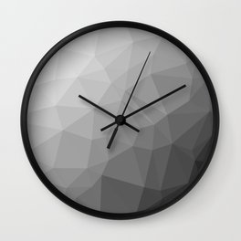 LOWPOLY BLACK AND WHITE Wall Clock