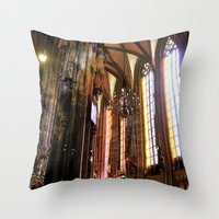 vienna Throw Pillows featuring Only Vienna by Stokes Whitaker