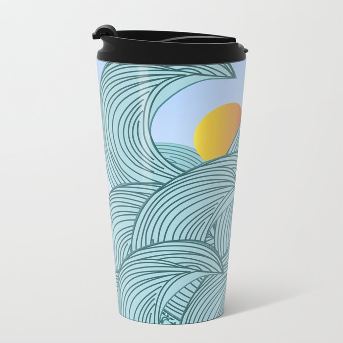 surfing 3 Metal Travel Mug