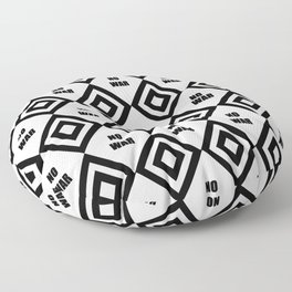 no war - rebel, wild,prohibition,peace,pacifism,weapon, military.militar. Floor Pillow