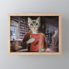 Dr. Felis Catus Framed Mini Art Print