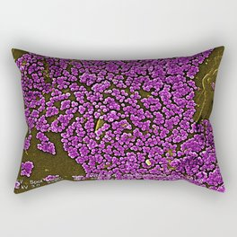 Clumps of Methicillin-Resistant Staphylococcus Aureus Bacteria Rectangular Pillow