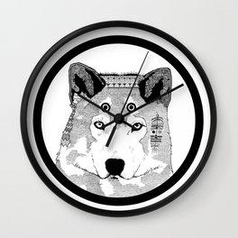 Hippie Wolf Wall Clock