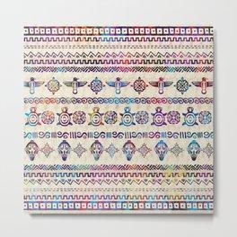 Maya / Aztec Gentle Watercolor pattern Metal Print