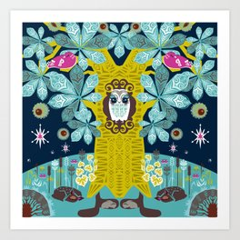 The Horse Chestnut {Night} Art Print