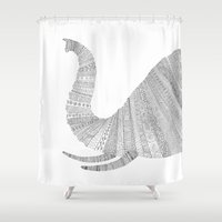 elephant Shower Curtains featuring Elephant by Florent Bodart / Speakerine