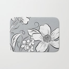 Merry Marsh Marigold - Black and White Bath Mat