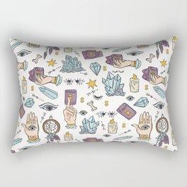 Seamless Vector Border Spiritual Symbols Tarot Card Rectangular Pillow