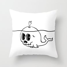 Moby Skull Throw Pillow