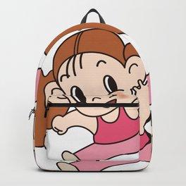 a Girl_A Backpack
