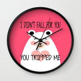 I Am Beary Romantic Wall Clock