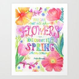 Flowers & Spring Art Print