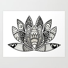 Tangled Lotus Art Print