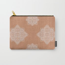 Modern boho terracotta floral mandala oriental pattern Carry-All Pouch