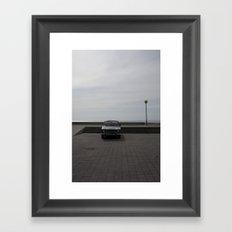Lonely cars Framed Art Print