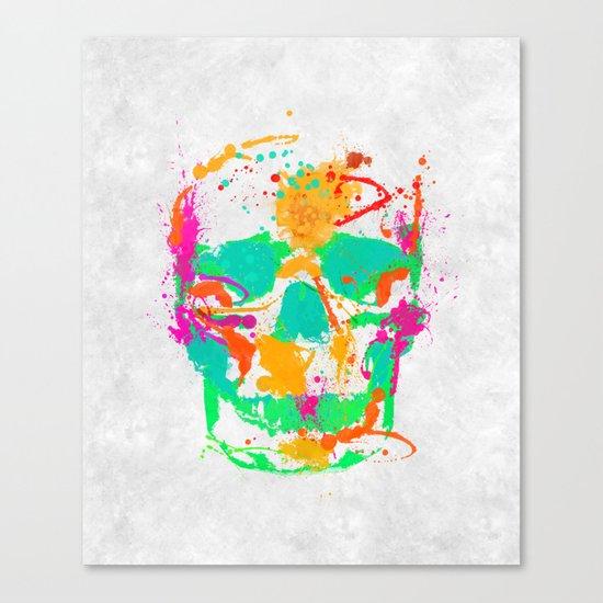 Dead Color Skull Canvas Print