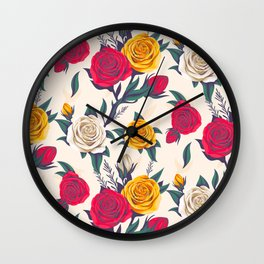 gorgeous roses Wall Clock