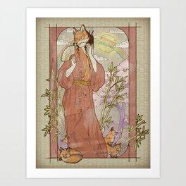 Kitsune Masquerade Art Print
