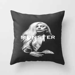Lady Gaga's Portrait Monster Throw Pillow
