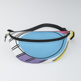 90s Retro Colored Shapes v2 Fanny Pack