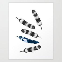 Feather Drift Art Print