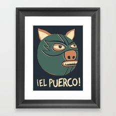 ¡El Puerco! Framed Art Print