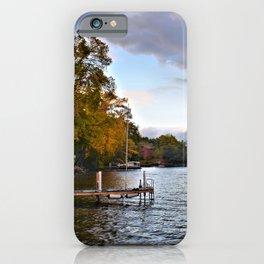 Lake George: Autumn Storm on the Horizon iPhone Case