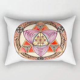 Pyramid Mandala Rectangular Pillow