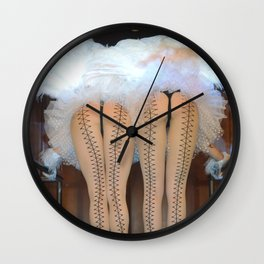 2 Feathered Showgirl Dancers On Point Wall Clock