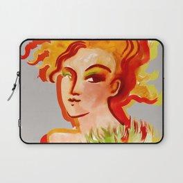 Deep orange yellow hues fashion portrait Laptop Sleeve