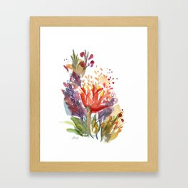 Jeweltone Buds Framed Art Print