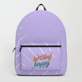 Don't worry be happy Backpack
