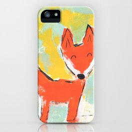 Bright and Happy Fox iPhone Case