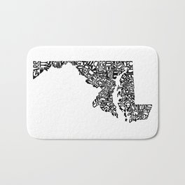 Typographic Maryland Bath Mat