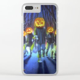 Attack of the Jack-O-Lanterns Clear iPhone Case