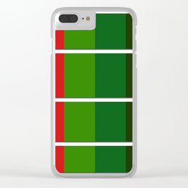 Christmas color bar Clear iPhone Case