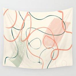 the dance 3 - minimal line art brush stroke Wall Tapestry