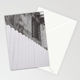 diagonal fence Stationery Cards