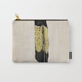 Yellow Tailed Black Cocaktoo Feather Carry-All Pouch
