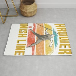 Throwers Don't Have Finish Lines Javelin Throwing Rug