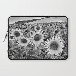 Sunflowers At night. Bw Laptop Sleeve