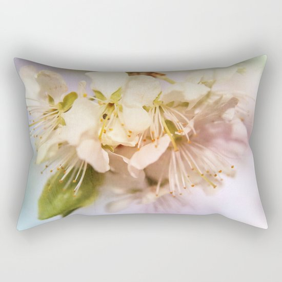 apple blossoms Rectangular Pillow