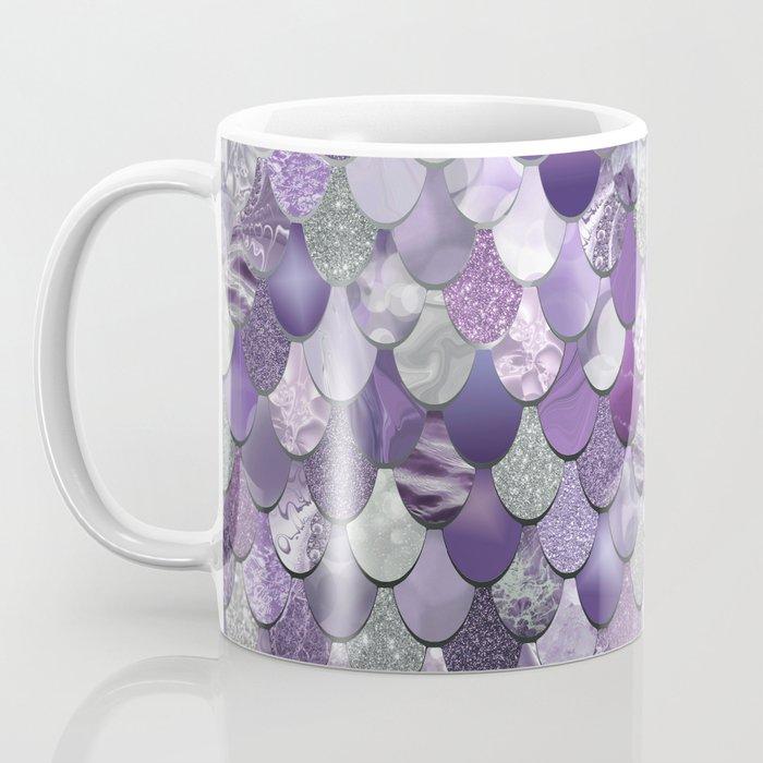Mermaid Purple and Silver Kaffeebecher